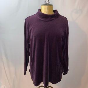 The Vermont Country Store Velvet Purple Top
